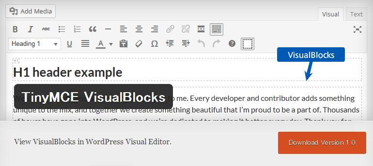 TinyMCE VisualBlocks_header